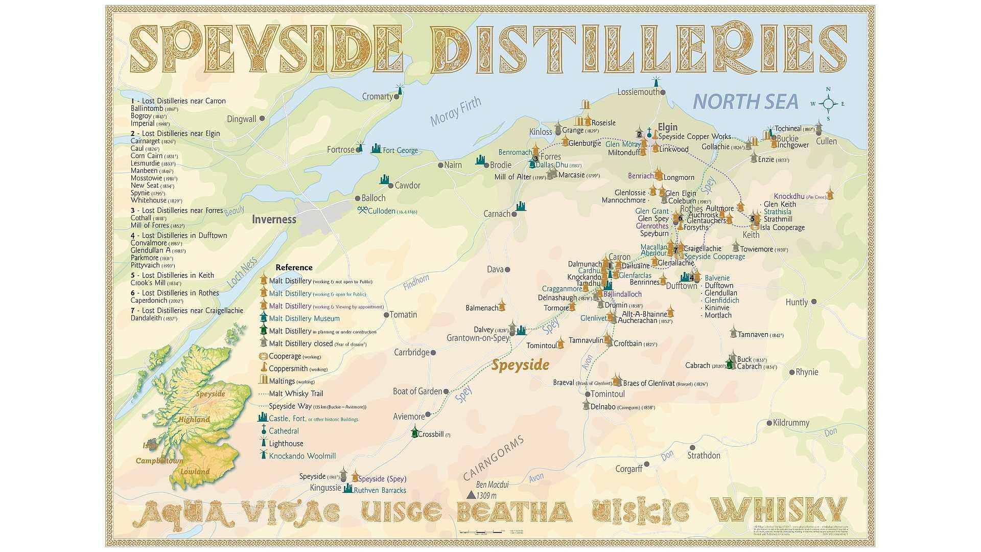 Schottland Karte Whisky.Exklusiv Eine Karte Der Speyside Distilleries Whiskyexperts