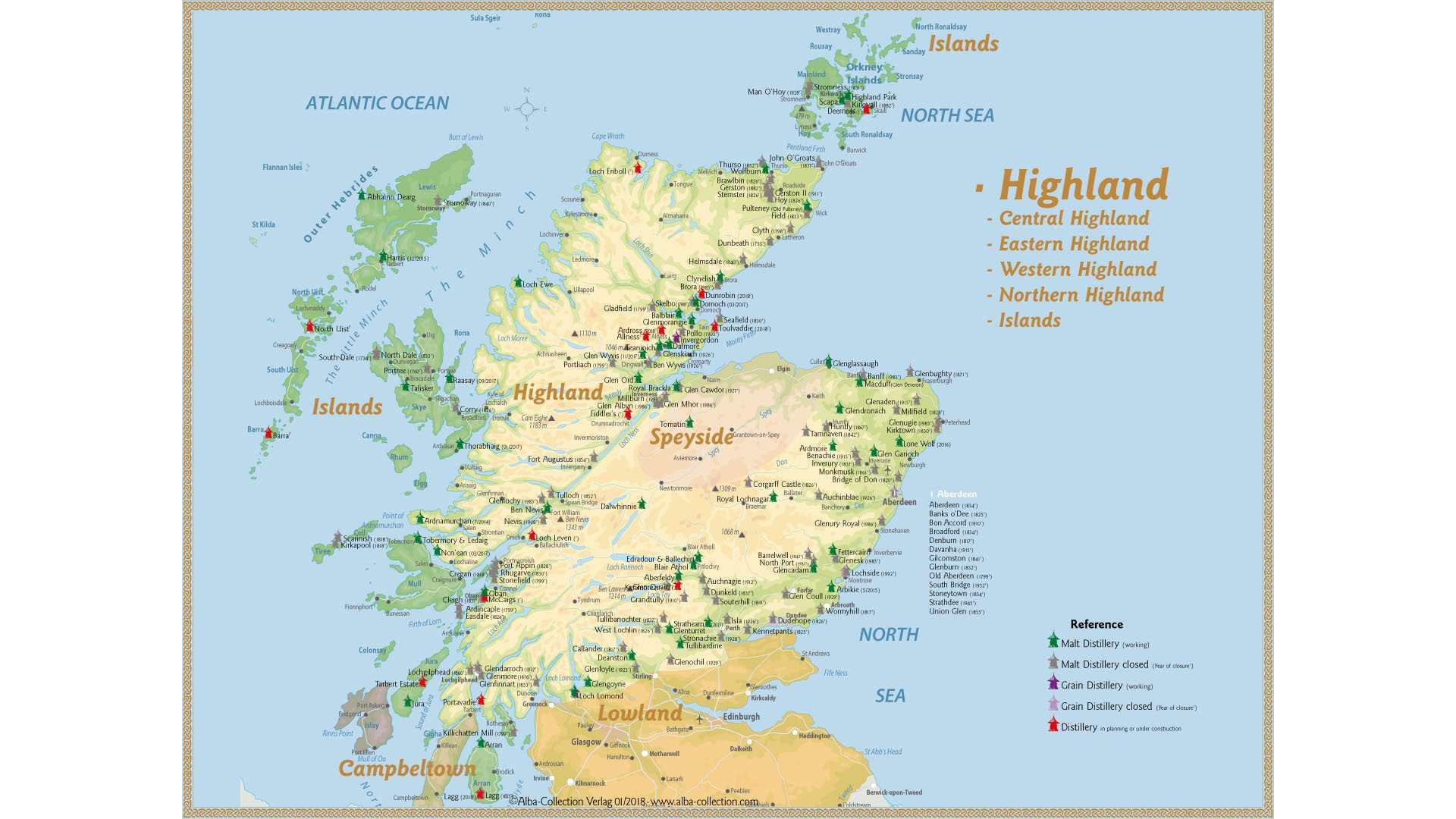 Schottland Karte Highlands.Eine Karte Der Highland Destillerien Whiskyexperts