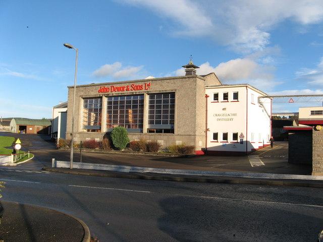 Craigellachie Destillerie, Foto von Christopher Gillan, CC-Lizenz