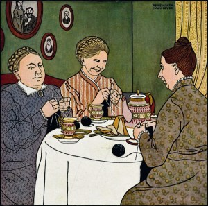woman-knitting-vintage-drawing