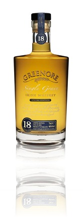 Greenore 18 Year Old Whiskey. Bottle