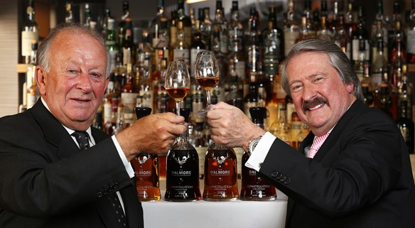 THE MARCLIFFE HOTEL AND SPA BECOMES THE FIRST PLACE IN BRITAIN TO SELL THE DALMORE'S CONSTELLATION COLLECTION BY THE GLASS. RICHARD PATERSON, (RIGHT) THE DALMORE'S MASTER DISTILLER AT THE MARCLIFFE HOTEL WITH HOTEL OWNER STEWART SPENCE.