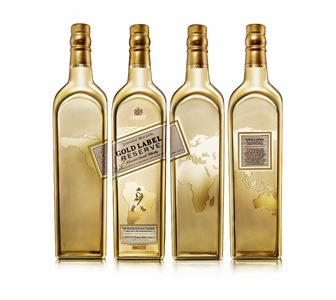 Johnnie Walker Gold Label Reserve Exclusive Travellers Edition - Full map over 4 bottles