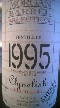 clynelish 1995 wilson morgan