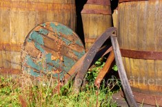 Discarded whisky casks, Convalmore Distillery