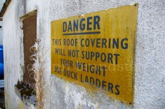 Warning sign, Coleburn Distillery