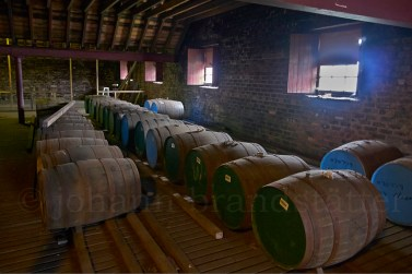 Whisky casks, Tomatin Distillery