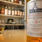 3 year old Annandale Single Malt, bottled by Glasgow's Pot Still Bar