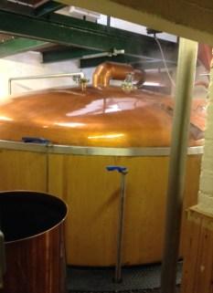 The hot steamy mash tun at Pulteney Distillery