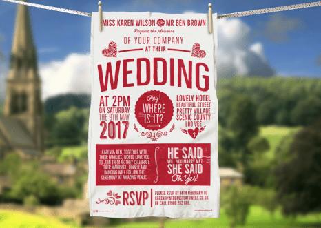 Original Wedding Tea Towel