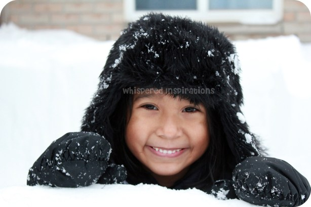 Snowmageddon. A little girl plays in the snow!