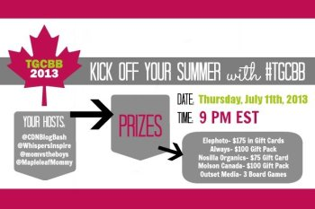 It's The Great Canadian Blog Bash Twitter Party: Come Celebrate With Us and We Are Giving Away Almost $800 in All-Canadian Prizes! #TGCBB
