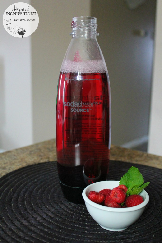 SodaStream drink is fully blended and ready to serve.