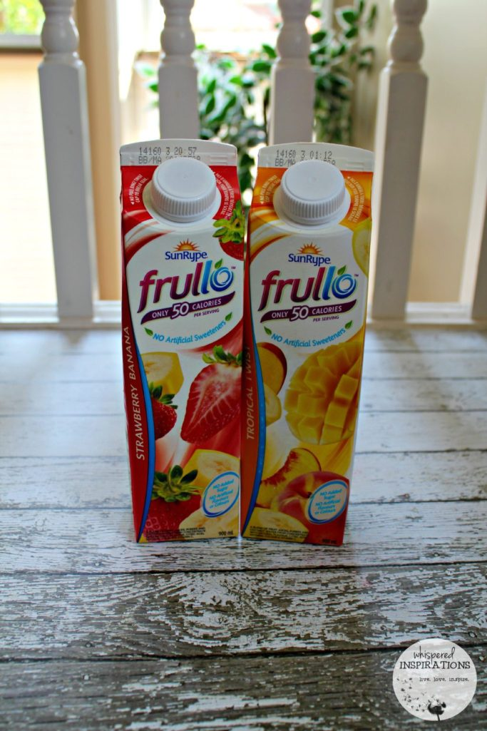 Two SunRype Frullo cartons next to each other.