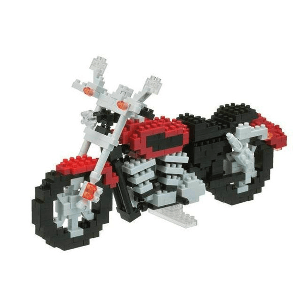 the nanoblock motorcyle is picture, it is an advanced set.
