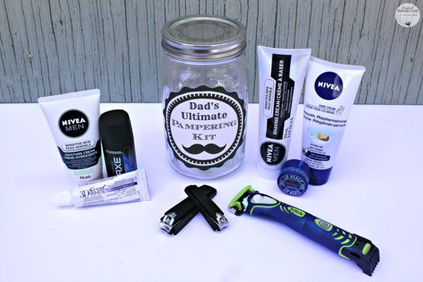 DIY Father's Day Gift Ideas: Dad's Ultimate Pampering Kit and Sweet & Spicy Steak Rub! #HPTreatsMoms