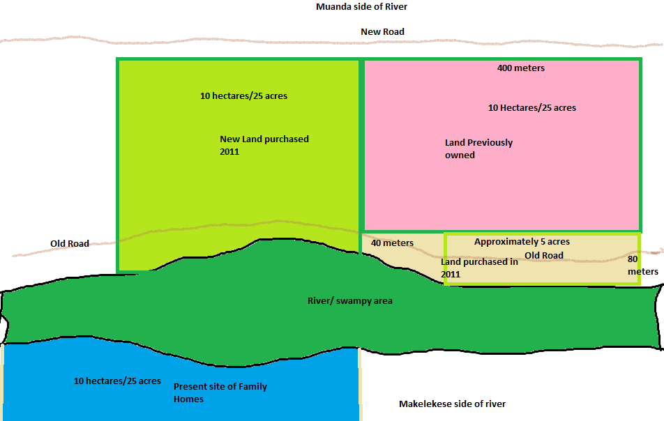 Layout of the land that AE owns around Muanda, DRC