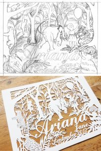 Design with final papercut