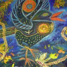 Dancing Blue Crow