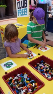 girls playing with legos