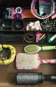 hair accessories drawer