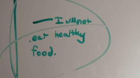 Here is what my son wrote on the dry erase board today.