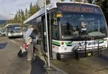 Whistler Bus Stops at Whistler Gondola Base