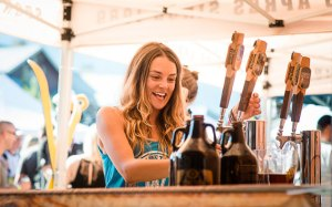 Whistler Village Waitresses Serving Beer Festival