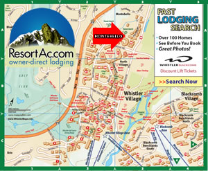 Whistler Montebello Accommodation Maps