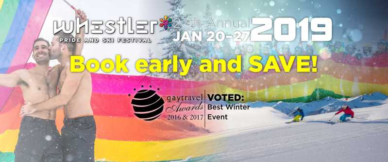 Join us Jan. 20-27, 2019 for the 27th annual Whistler Pride and Ski Festival