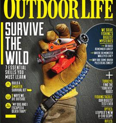 Whistles for Life is featured on the March 2015 cover of Outdoor Life magazine.