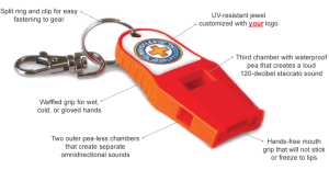 Whistles for Life whistles were designed and tested by search and rescue professionals.
