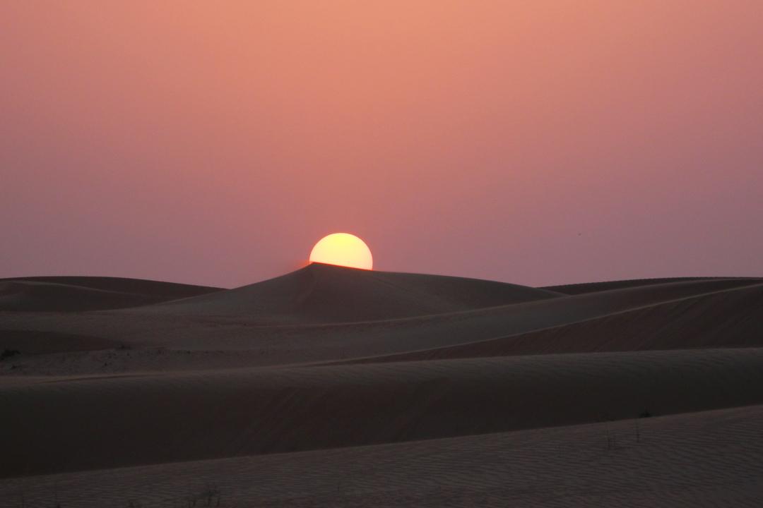 Dunes sunset Dubai