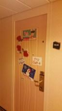 Cabin doors were decorated, too