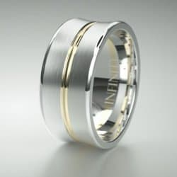 Gents White And Yellow Gold Wedding Ring