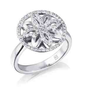 Ellipse Collection Diamond Set Dress Ring