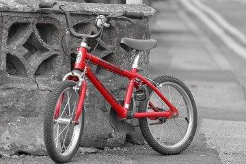 自転車をひく