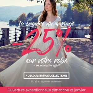 Semaine du mariage -25% sur toutes les robes White Boutik