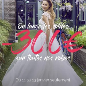 Soldes chez White Boutik -300€ sur toutes nos robes !