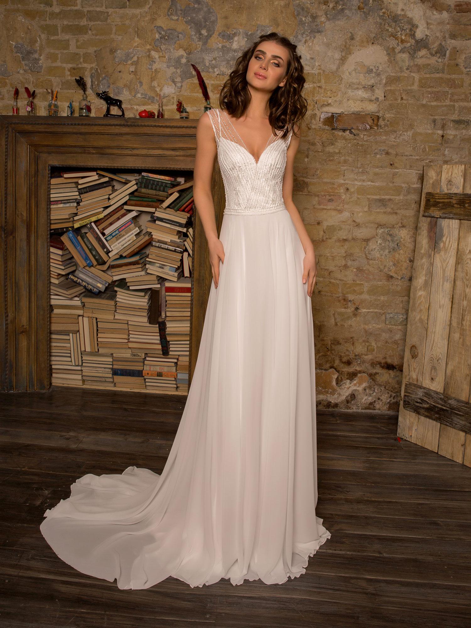 Robe de mariée fluide Ramatuelle chez White