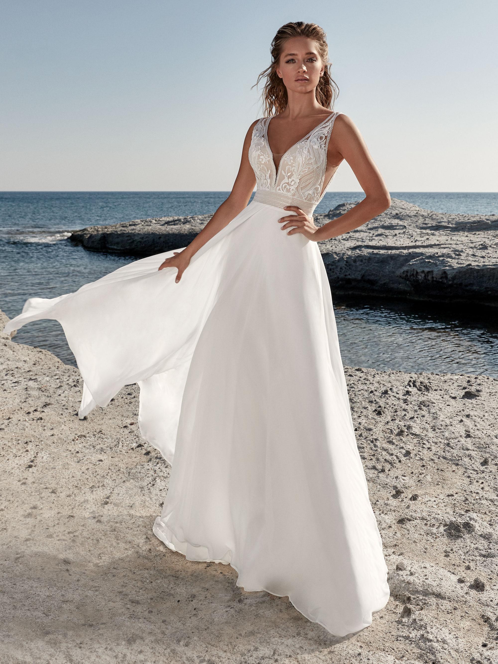Robe de mariée fluide Tavernay - White Boutik