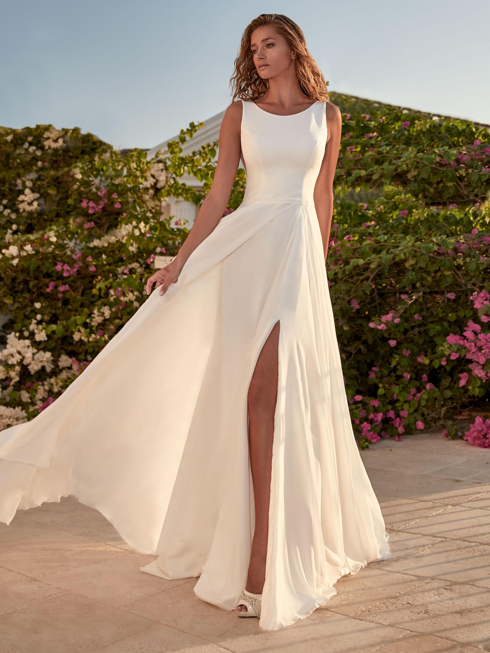 Robe de mariée fluide Tressin - White Boutik