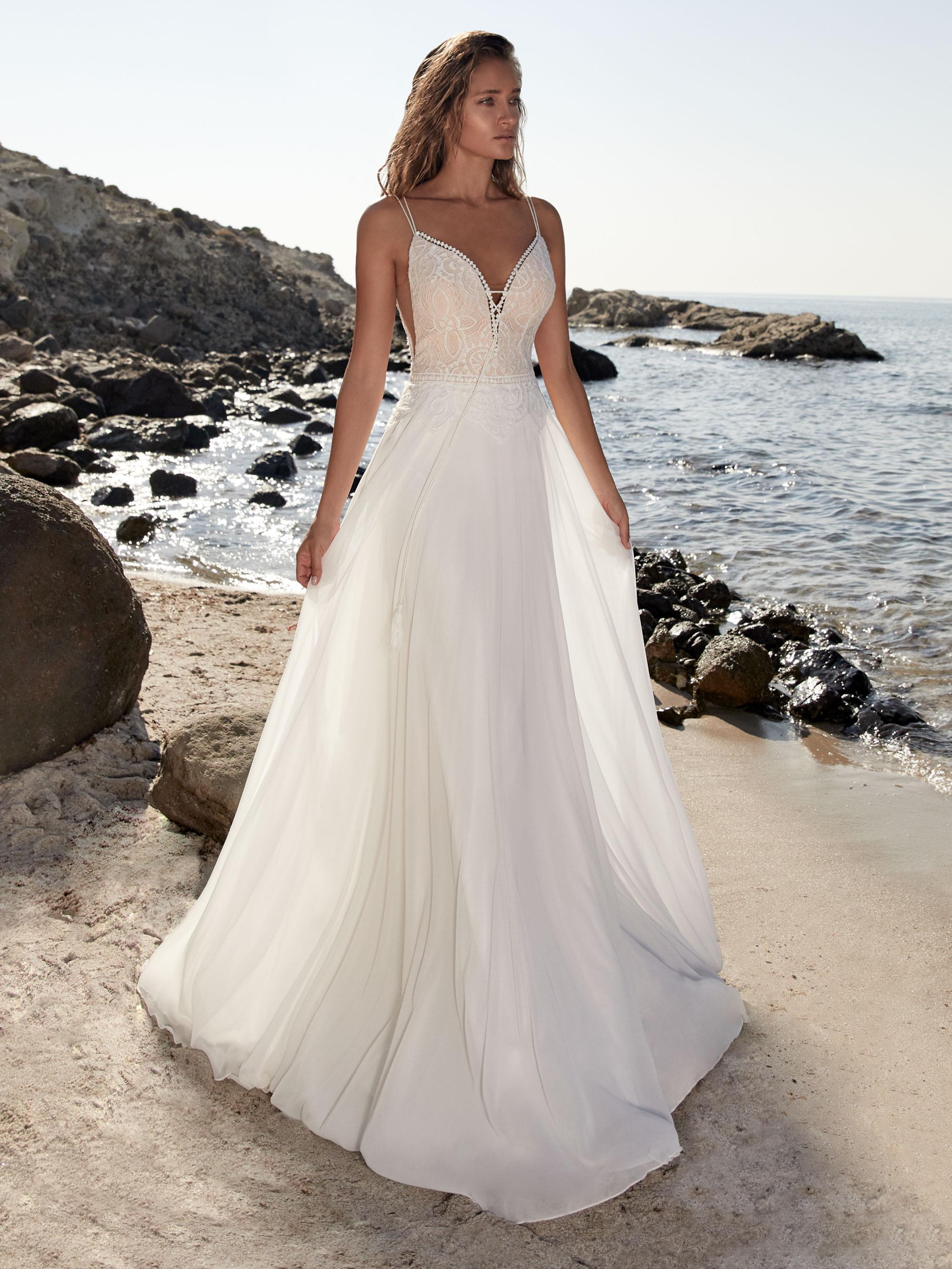 Robe de mariée fluide Tricot - White Boutik