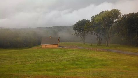 Farm in stormy weather