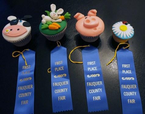 Custom decorated cupcakes