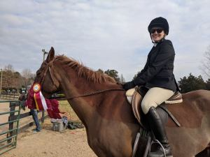 Julie's first horse show