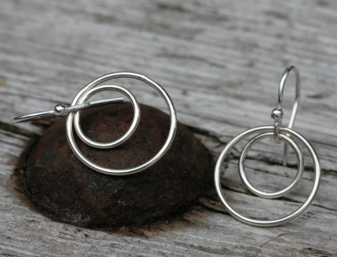 Sterling Silver Circle Earrings 1