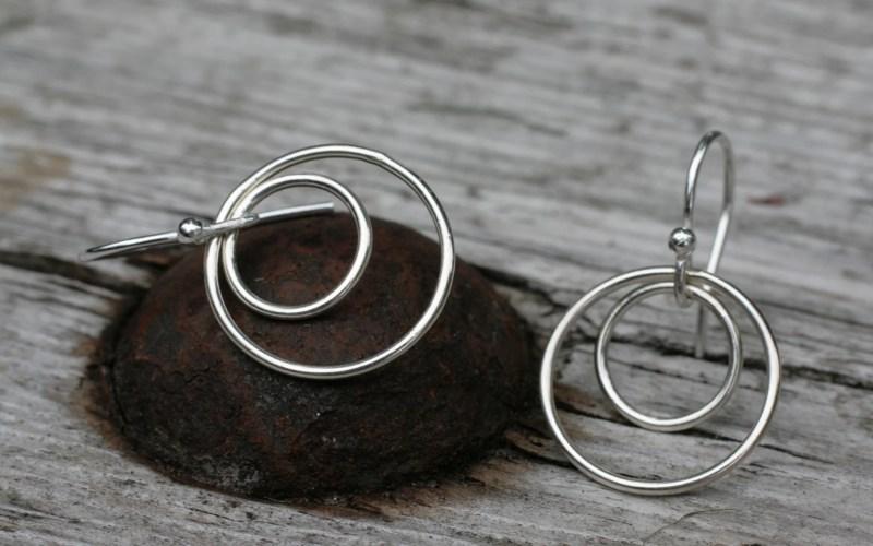 Sterling Silver Circle Earrings 1