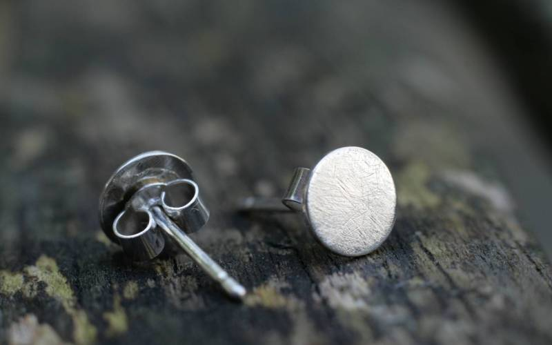 Small Sterling Silver Stud Earrings 1