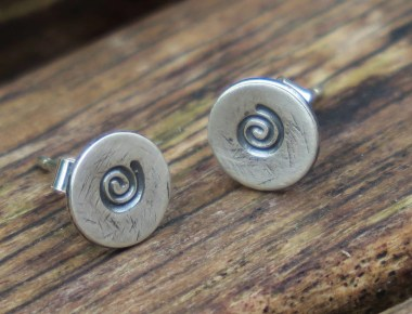 Spiral Stud Earrings 1